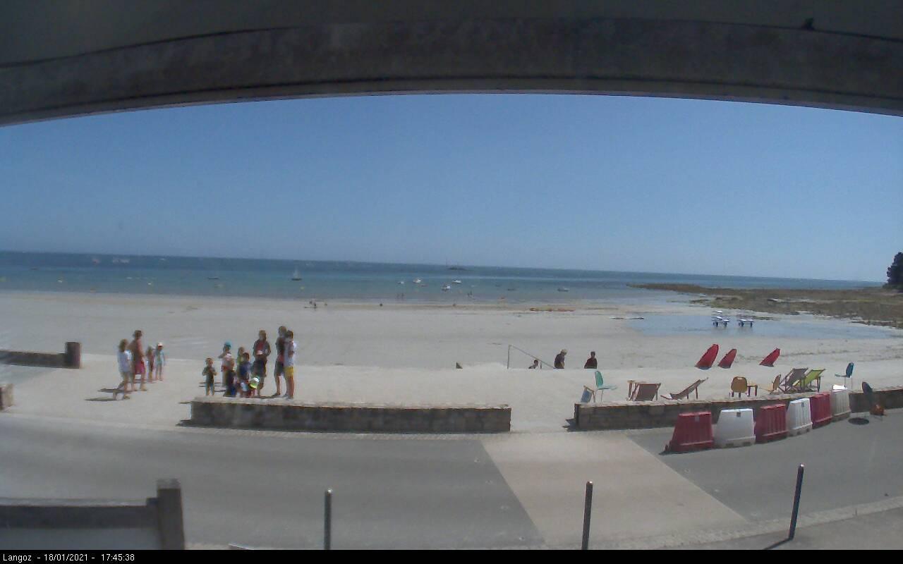 Webcam de la plage de Langoz à Loctudy