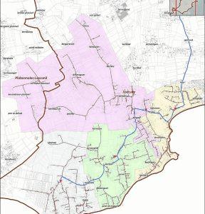 La zone de déploiement de la fibre couvre quatre secteurs situés au sud-ouest de la commune.