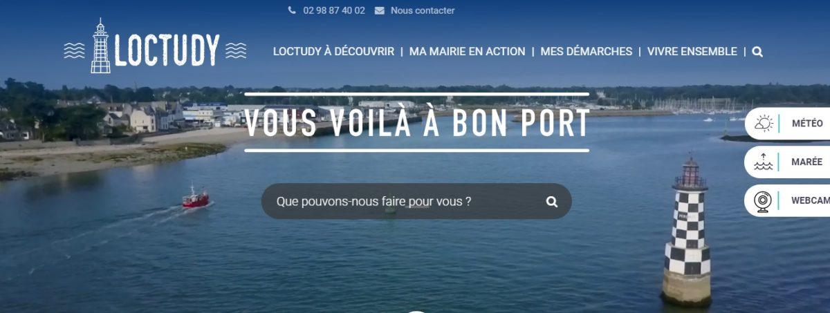 Copié écran de Loctudy.fr