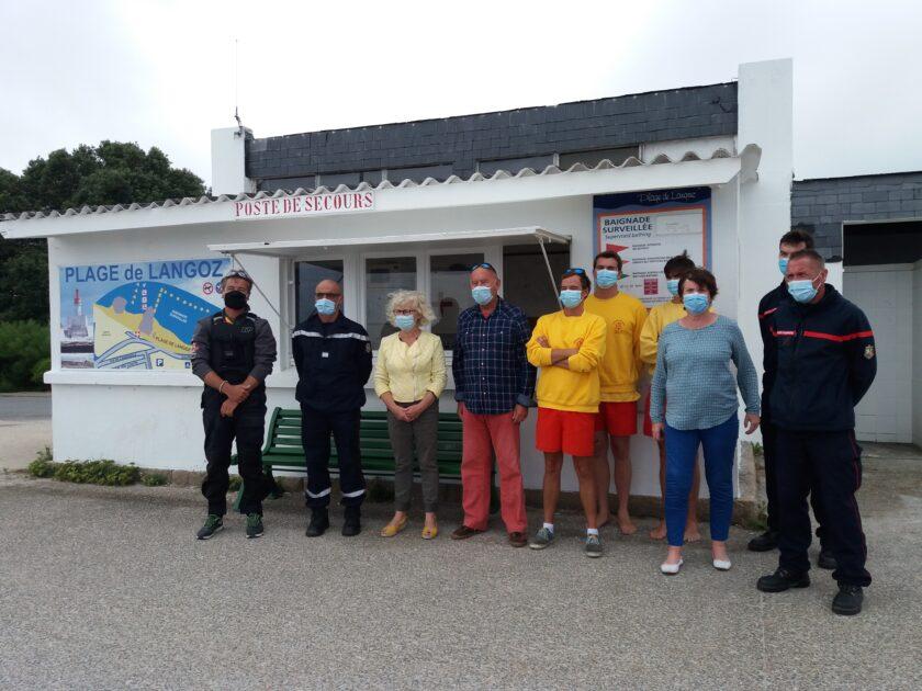 Malgré une fréquentation digne du mois d'août, l'été est calme pour l'équipe des sauveteurs du poste de secours de Langoz.