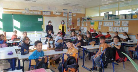 Avec Mme Desnos Sandra, directrice de l'école de Jules Ferry