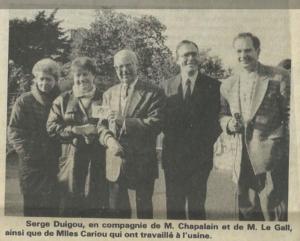 Extrait du Télégramme de Brest - 20 otobre 1992